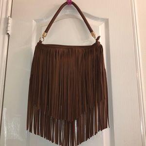 Tassel/fringe brown purse